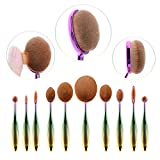 Ammiy® Ammiy® 10Pcs Professionelle make up pinsel BB Cream Puderpinsel Foundation Bürste...