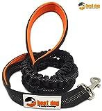BEST DOG PREMIUM Hundeleine für große Hunde (Orange-Schwarz)