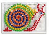 Quercetti 0952 - Mosaik-Steckspiel Fanta Color Large, 270 Stecker 10mm