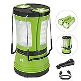 LE Aufladbare LED Camping Laterne mit 2 abnehmbaren Mini Taschenlampen 600lm , Wasserdichte...