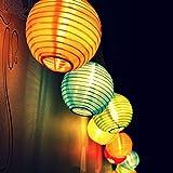 Top Fashion18 LED Solar Lichterkette Lampions Wasserdicht 20er LED Lampions Laterne Lichterkette...