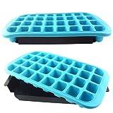 XXL Eiswürfelform Eiswürfelbereiter stapelbar blau 32 Jumbo Eiswürfel Silikon 800ml