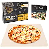 Garcon Pizzastein für Backofen, Grill & Gasgrill - Pizza wie beim Italiener - Pizza Stein inkl....