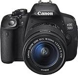 Canon EOS 700D SLR-Digitalkamera (18 Megapixel, 7,6 cm (3 Zoll) Touchscreen, Full HD, Live-View) Kit...