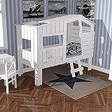 Dannenfelser lounge-zone Höhlenbett Baumhausbett Kinderbett Bett Baumhaus Spielhöhle WEISS (nicht...
