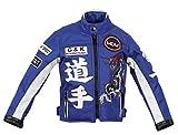 Kinder Motorradjacke in blau, Racer Jacke, Bikerjacke, Racingjacke, (XL)
