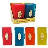 Box für Baby Feuchttücher Box Trage Box Wechsel Urlaub Nasstücher - 4 Stück Set (Einfärbig),...