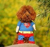 Hunde Kleidung Katze Kleidung Superhund Haustier-Kleidung Superman Hundewelpen...