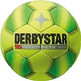 Derbystar Fußball Indoor Beta, Hallenball, Ball Größe 5 (400 g), gelb grün, 1054