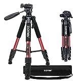 ZOMEI Pro tragbare Kompaktkamera Das Stativ mit Pan Head Quick-Release für digitale Kamera Stativ...