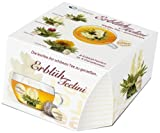 Creano Teeblumen Variation im exklusiven Tassenformat 'ErblühTeelini' | 8 Teeblüten in 4...