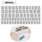 Kurtzy 64 stücke Buchstaben Ausstecher - Alphabet Keksstempel einschließlich der Buchstaben A-Z -...