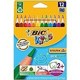 Bic Kids ECOlutions Evolution Buntstifte / Dreikant Farbstifte für Kinder ab 2 Jahren / Ergonomisch...
