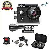 Action Cam 4K Wasserdicht, Daping Action Kamera 12MP 1080p Helmkamera WiFi 170° Weitwinkel 2,0 Zoll...