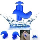 EROSPA® Silikon Ohrstöpsel Schwimmen Tauchen Schnorcheln Erwachsene Kinder Ear Plug blau schwarz 1...