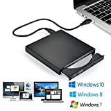 Blingco Upgrade externes CD Laufwerk, USB Slim Portable CD-RW DVD-R Combo Brenner Player, Schwarz
