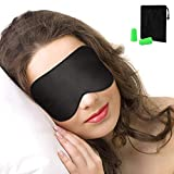 Schlafmaske, Nasharia Augenmaske Nachtmaske Verstellbarem Gummiband 100% Hautfreundlich Seide...