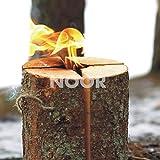 NOOR Schwedenfeuer Schwedenfackel Höhe 25 cm Durcmesser 17-24 cm Flammender Outdoor-Spass bis zu 4...