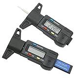 Dolity 1 Stück Reifen Laufflächen Tiefenmesser, Universale Diagnosegerät für Autos und Rollers