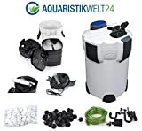SUNSUN Aquarium Außenfilter 2000 L/h 3 Stufen 1000l +UV-Cleaner! +Filtermaterial