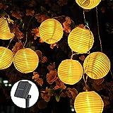 Solar Lichterkette Lampions, ECOWHO 6.5M 30 LEDs Lampions Laterne Lichterkette, Wasserdicht Solar...