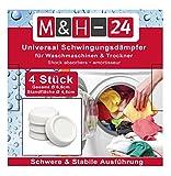M&H-24 Schwingungsdämpfer / Vibrationsdämpfer / Antivibrationsmatte für Waschmaschine & Trockner,...