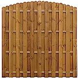 Sichtschutzzaun Element Gartenzaun aus Holz vertikal Bogendesign