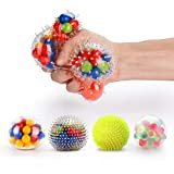 Fansteck Stressball Set [4er-Pack], Squishy Mash Ball / Anti-Stress-Bälle für Kinder und...
