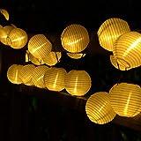 BAOANT Solar Lichterkette Lampion Außen 6 Meter 30 LED Laternen 2 Lichtarten Modi Wasserdicht mit...