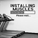 85 * 42cm Muskeln Zitat Wall Decal Gym Bodybuilding Vinyl Wall Sticker Sport Fitness Kraftstation...