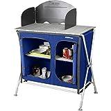 Berger Campingküche Küchenbox Pablo, blau, höhenverstellbare Füße, inkl. Windschutz und...