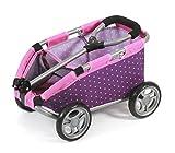 Bayer Chic 2000 660 40 - Ziehwagen 'Skipper', Handwagen für Puppen oder Teddybären, Dots Purple...