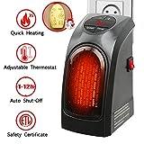 Handy Heater 350W Keramik Mini Heizung Thermostat Elektrische Heizung mit Timer Heizlüfter für...