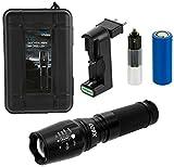 ACE LED Taschenlampe Extrem Hell - Tactical Flashlight, Wiederaufladbar mit Akku-Ladegerät, inkl....