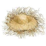 Hut Tom aus Stroh, naturfarben, ausgefranst