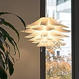 Lampwin - Lotus Lampenschirm DIY Puzzle Lampe Hängeleuchtenschirm (IQ PP Anhänger, für...