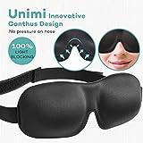 Premium Schlafmaske, UNIMI 3D Augenmaske schlafen bequem und weich. Augenmaske für Damen Und...