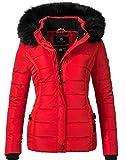 Navahoo Damen Jacke Winterjacke Steppjacke Miamor (vegan hergestellt) Rot Gr. L