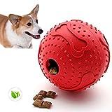 ThinkPet Snackball aus Gummi, interaktive Hundespielzeuge, Rot, Klein
