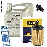 Ölwechsel Set Inspektion 5 Liter Motoröl VAG 5W-30 Motorenöl + Hengst Ölfilter + Öl...