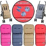 Fußsack / Sommerfußsack (Mit KLIMA GUARD - TECHNOLOGIE) für Kinderwagen / Buggy / Jogger Kinder...