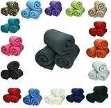 Betz 3 Stück Fleecedecke Kuscheldecke in Größe 130x170 cm Qualität 220 g/m² verschiedene Farben...