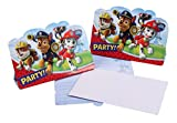 16-teiliges Einladungskarten-Set * PAW PATROL * für Geburtstagsfeier oder Motto-Party // mit 8...