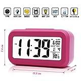 iProtect batteriebetriebener Digital-Wecker mit extra großem Display, Snooze, Datumsanzeige,...