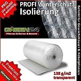 PRO3 Luftpolsterfolie Isolierfolie Noppenfolie, GREEN24 Premium Folie zum Winterschutz für...