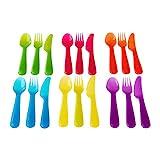 Ikea KALAS Besteck, Polypropylene, Mehrfarbig 18 x 14 x 3 cm, 18-Einheiten