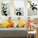 Fenstersticker Pandabären Set Kinderzimmer Bär Fenstersticker Fensterfolie Fenstertattoo...