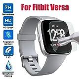 Sisit Gehärtetes Glas für Fitbit Versa, HD gehärtetem Glas LCD-Displayschutzfolie für Fitbit...