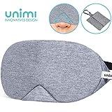 Unimi Baumwolle Schlafmaske Damen und Herren, 2019 neue Design Premium Augenmaske Nachtmaske,100%...