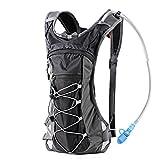 Trinkrucksack Hydrationspack mit 2L Trinkblase für Joggen, Wandern, Radfahren, Camping und...
